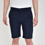 Luxury Linen Feel Shorts // Dark Navy (40)