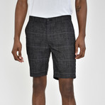 Windowpane Shorts // Charcoal (40)