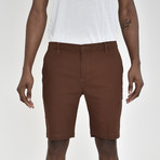 Twill Shorts // Brown (32)