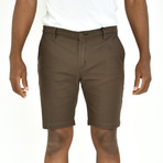 Twill Shorts // Olive Brown (34)