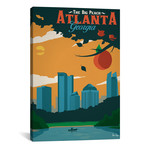 "Vintage Atlanta (18""W x 26""H x 0.75""D)"