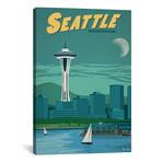 """Vintage Seattle (18""""W x 26""""H x 0.75""""D)"""
