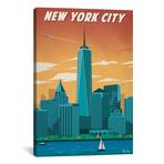 "Vintage New York City (18""W x 26""H x 0.75""D)"