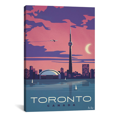 "Vintage Toronto (18""W x 26""H x 0.75""D)"