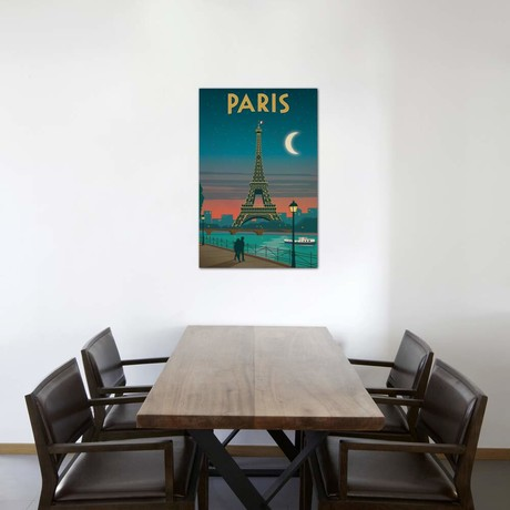 "Paris Moonlight (18""W x 26""H x 0.75""D)"