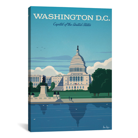"""Washington D.C. Capitol (18""""W x 26""""H x 0.75""""D)"""