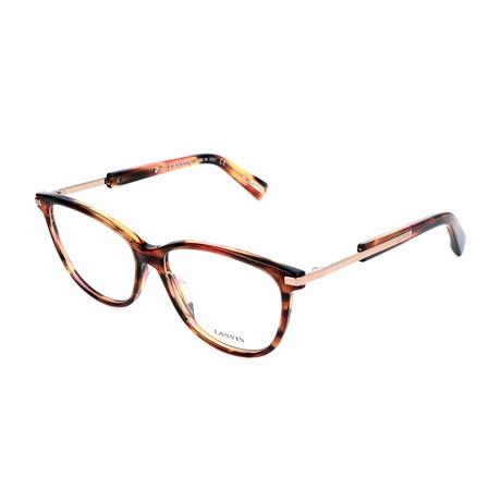 Women's VLN767 Frames // Brown + Pink + Streaked Orange