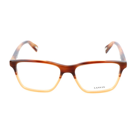 Men's VLN781 Optical Frames // Striped Brown + Straw