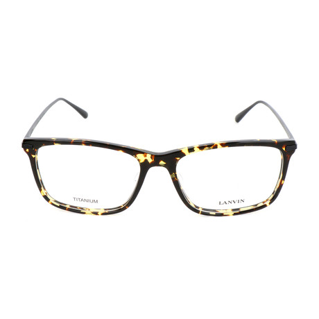 Men's VLN782M Optical Frames // Brown + Yellow Havana