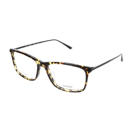 Men's VLN782M Optical Frames // Brown + Yellow Havana