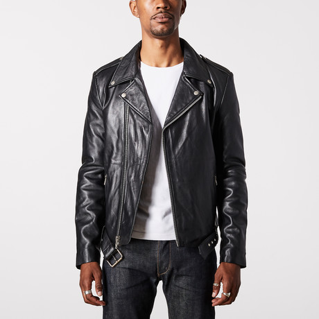 Ares Biker Jacket // Black (XS)