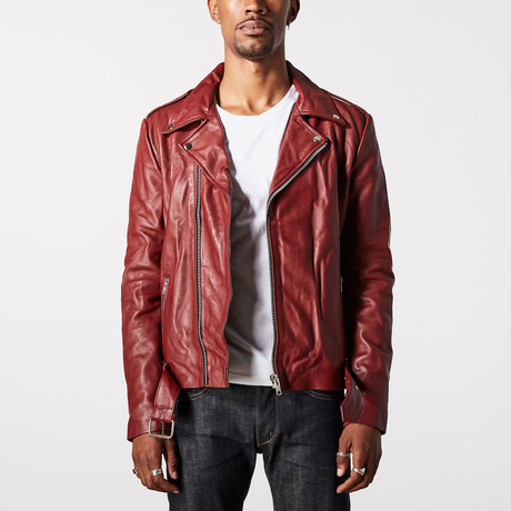 Ares Biker Jacket // Burgundy (XS)