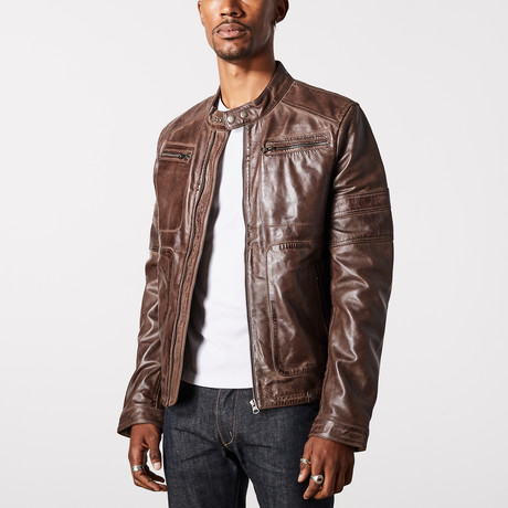 Hermes Biker Jacket // Brown (XS)