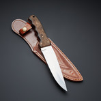 D2 Antique Wood Handle Hunting Knife