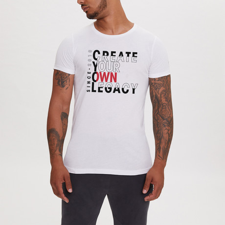 Create Your Own Legacy Printed T-Shirt // White (XS)