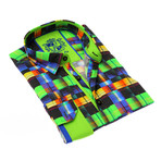 Baldrick Print Button-Up Shirt // Multicolor (XL)