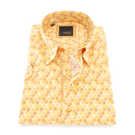 Lionel Print Button-Up Shirt // Mustard (S)