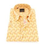 Lionel Print Button-Up Shirt // Mustard (M)