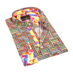 Jiri Print Button-Up Shirt // Multicolor (2XL)