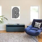 """B Geometric Letter (18""""W x 26""""H x 0.75""""D)"""