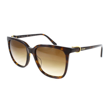 Cartier // Unisex CT0004S Sunglasses // Brown Gradient