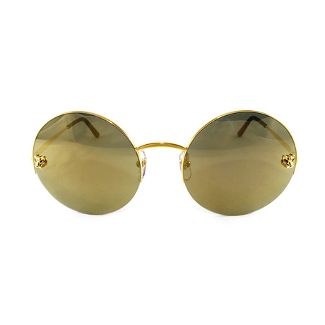 Women's CT0022S Sunglasses // Grey + Gold