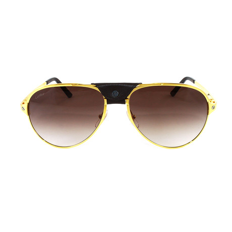 Men's CT0034S Sunglasses // Gold + Brown Gradient