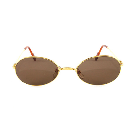 Women's T8100274 Sunglasses // Gold + Brown