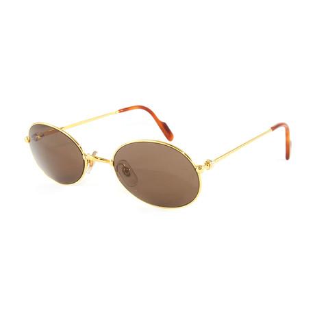 Women's T8100274 Sunglasses // Gold + Brown