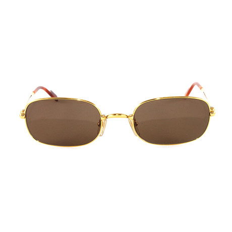 T8200206 Sunglasses // Gold + Brown