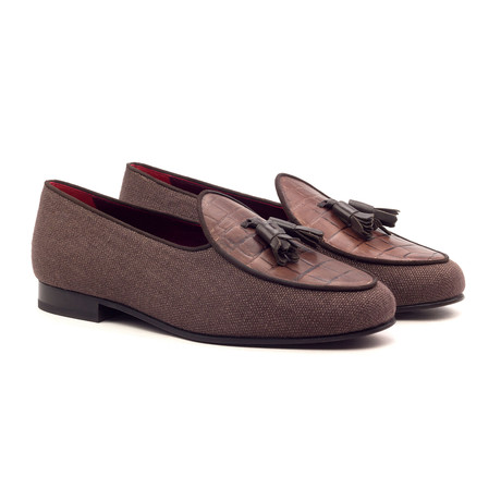 Belgian Tassel Slippers // Brown (UK: 5.5)