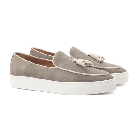 Belgian Tassel Sneaker // Gray + Ivory (UK: 5.5)