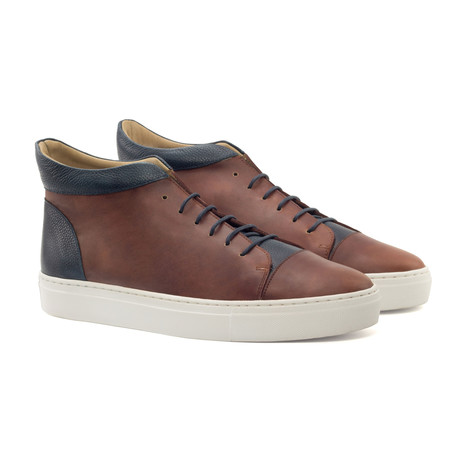 High Top Sneaker // Brown (UK: 5.5)