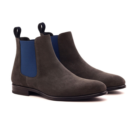 Chelsea Boot Classic // Brown + Navy (UK: 5.5)