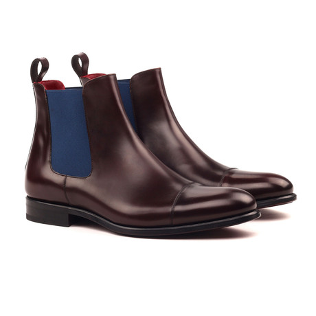 Chelsea Boot Classic // Medium Brown + Navy (UK: 5.5)