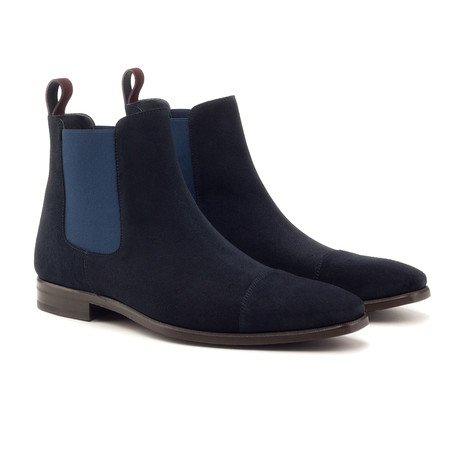 Chelsea Boot Classic // Navy + Burgundy (UK: 5.5)