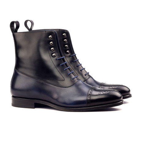 Balmoral Boot // Navy + Black (UK: 5.5)