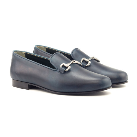 Horse Bit Loafers // Navy (UK: 5.5)