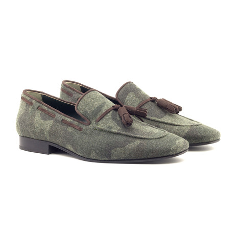 Drake Tassel Slipper // Camouflage + Brown (UK: 5.5)