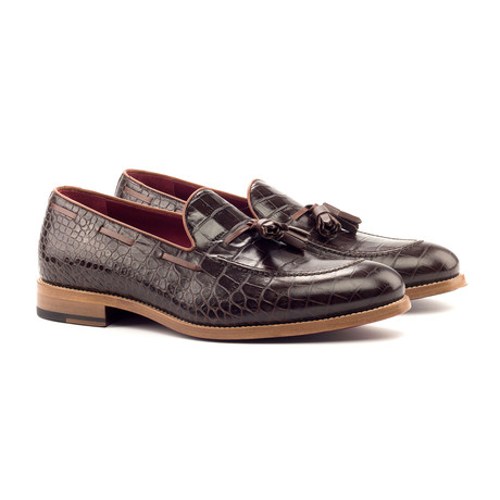Loafer Tassels // Brown + Burgundy (UK: 5.5)