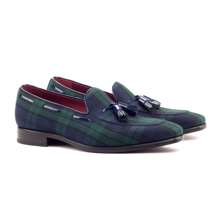 Loafer Tassels // Navy + Green (UK: 5.5)