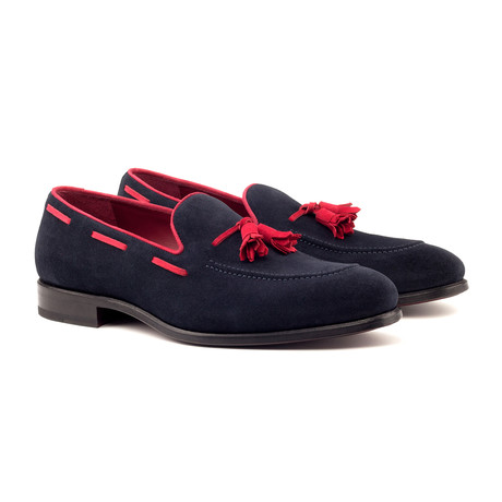 Loafer Tassels // Navy + Red (UK: 5.5)