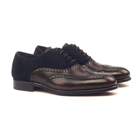 Full Brogue // Dark Brown + Navy (UK: 5.5)