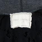 Greg Lauren // Cotton Destroyed Pullover Hoodie // Black (XS)