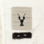 DRKSHDW // Woven T Shirt Mountain Hoodie Sweatshirt // Beige (M)