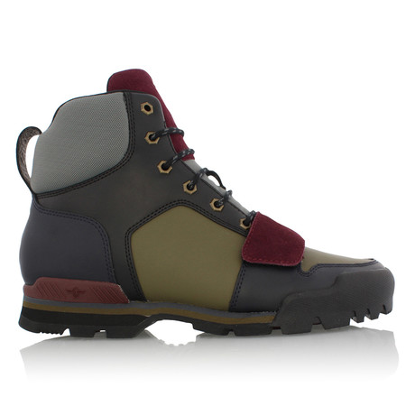 Scotto Strap Sneakers // Navy + Olive + Burgundy (US: 7)