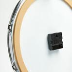 "Chrome Drum Lug Wall Clock 14"" // Blue Wave"