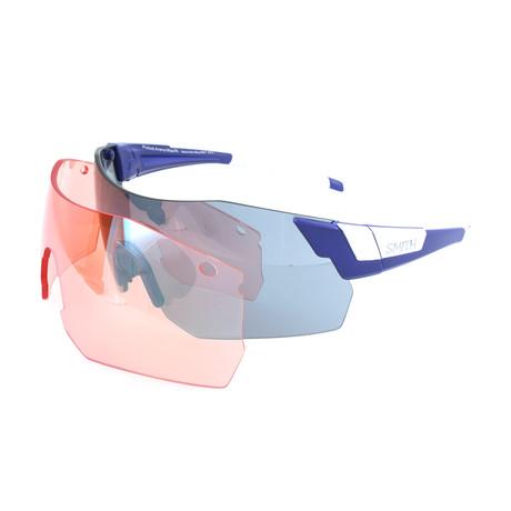Unisex Pivlockare Sunglasses // Matte Blue