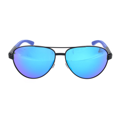 Men's Salute Sunglasses // Blue + Black