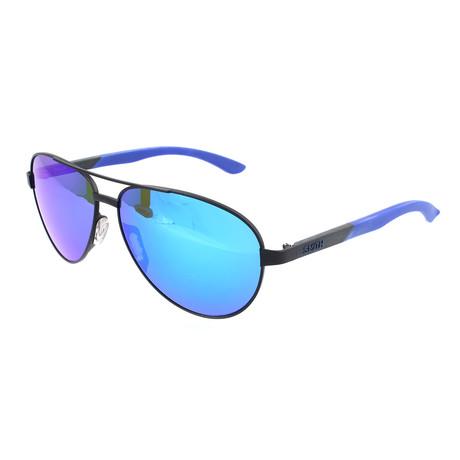 Men's Salute Sunglasses // Blue + Black